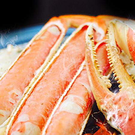 普段のコースを贅沢に<br>ズワイ蟹料理<span>玄品自慢のズワイ蟹を<br>単品でご提供</span><ul><li></li><li></li><li>店舗限定</li></ul>